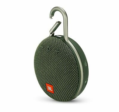 New JBL Clip 3 Rechargeable Waterproof Portable Bluetooth Speaker- Forest Green