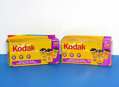 Lot Of 6 Kodak 200 35Mm Gold Film Bright Sun & Flash 24 / Exp Each Expired