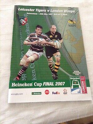 Rugby Union Programme Leicester Tigers V London Wasps  Heineken Cup Final 2007