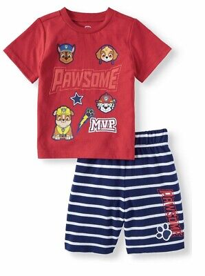 Paw Patrol Tshirt And Shorts 2 Piece Outfit Set Toddler Boys