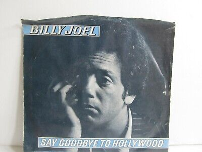 """Billy Joel """"Say Goodbye to Hollywood 45 with Picture Sleeve"""