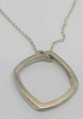 100% Guaranteed Authentic Tiffany & Co Frank Gehri Torque Square Necklace