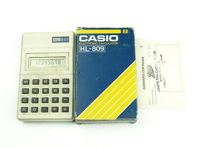 Vintage 1984 Casio HL-809 Electronic Calculator