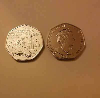 2019 Nana and Wendy 50p IOM - Peter Pan Collection from sealed bag
