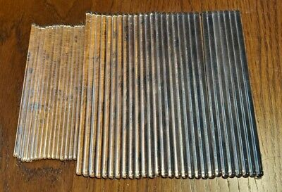 "LOT of 43 Vintage Glass Laboratory Stirring Rods 6"" & 5"" w/ Round Ends"