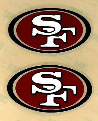 SAN FRANCISCO 49ers THROWBACK SIDE HELMET MINI DECAL SET 1996 -2008