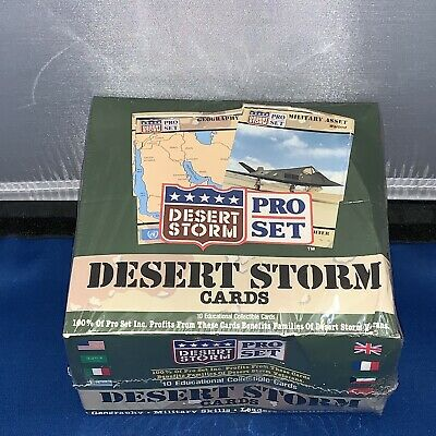 1991 PRO SET DESERT STORM WAX FOIL BOX 36 Packs 10 Cards in factory sealed box