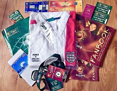 Euro 2004 England v France: Fan Pack: Match Ticket, Shirt, Programme, Guides etc