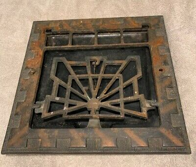 """Antique Art Deco Early 1900's Heat Air Grate Wall Register 11 5/8""""L x 11 5/8""""H"""
