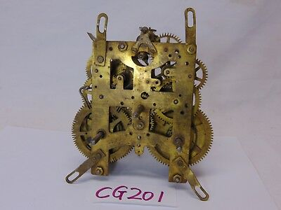 Vintage Clock Movement Repair Replacement Part-Brass No Name