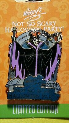 Disney 2014 Mickey's Not So Scary Halloween Party MALEFICENT pin LE, New on card
