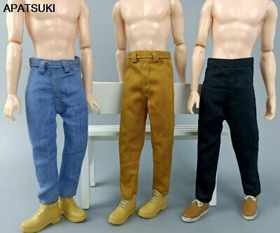 3pcs/lot 1/6 Boy Doll Clothes Hip Hop Handmade Denim Pants For Ken Doll Trousers