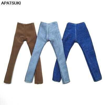 3pcs/lot 1/6 Boy Doll Clothes Handmade Jeans Pants For Ken Doll Denim Trousers