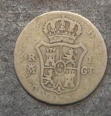 Spain  1816 1 Real Siver   Coin    Nice