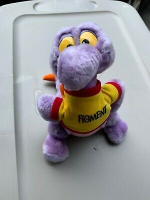 "1982 Disney World Disneyland FIGMENT Purple Dragon Plush Epcot 11"" S1"