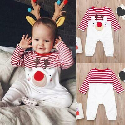 Fashion Infant Baby Rompers Outfits  Christmas Elk Children Jumpsuit HD