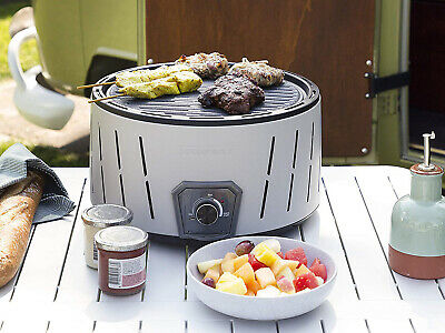 Enders AURORA MIRROR Tischgrill Holzkohle Grill Guss Rost raucharm Camping BBQ