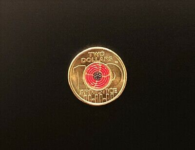 1 x BRAND NEW UNCIRCULATED $2 coin 2018 * ARMISTICE * Remembrance * Red Poppy