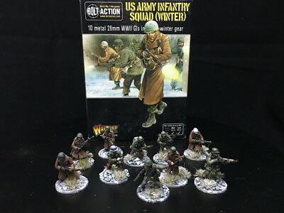 28mm DPS painted Bolt Action WW2 US army Infantry, Warlord Games RC923