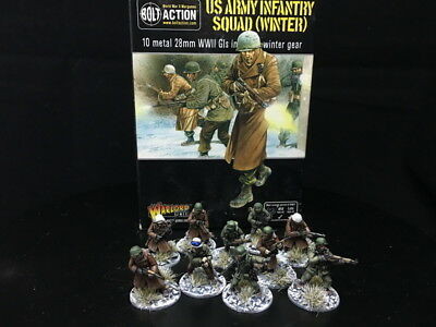 28mm DPS painted Bolt Action WW2 US army Infantry, Warlord Games RC924