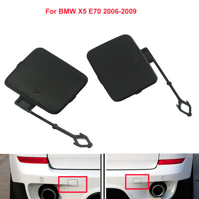 Pair Rear Bumper Towing Trailer Tow Hook Cover Caps Eye For BMW X5 E70 2006-2009