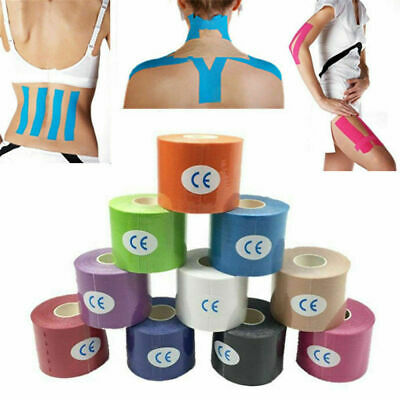 5M Sports Tape Elastic Physio Muscle Kinesiology Tape PRO Pain Relief Support UK