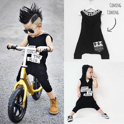 AU Cotton Toddler Baby Kids Boys Infant Romper Jumpsuit Bodysuit Clothes Outfit