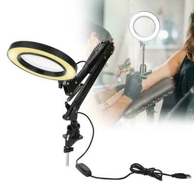 LED Magnifier Lamp Salon 5X Magnifying Lamp Eyeliner Manicure Tattoo Beauty