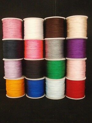 High Quality 0.8 Nylon Cord For Kumihimo.- Shamballa And Macrame Bracelets Etc