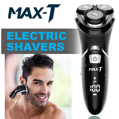 MAX-T Waterproof Cordless Electric Rechargeable Men Shaver Trimmer Wet Dry Razor