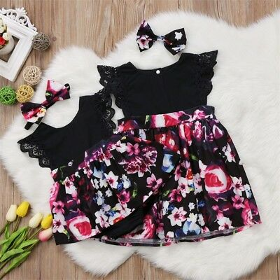 AU Christmas Baby Girl Toddler Kids Lace Romper Dress Party Dresses Costumes Set