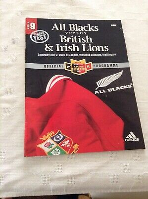 Rugby Union Programme All Blacks V Lions 2005