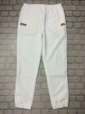 Ellesse Mens Uk Xl Clipio Track Pants White Joggers J