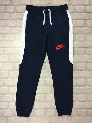 Nike Mens Uk S Hybrid Fleece Joggers Navy Blue Track Pants Sweatpants J