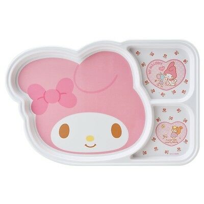 Lovely My Melody Melamine 3 Parts Divided Plate for Kids