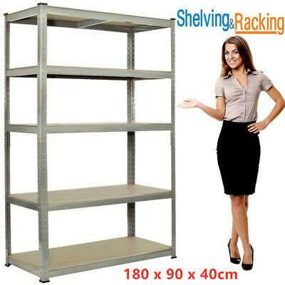 Garage Shed 5 Tier Racking Storage Shelving Units Boltless Heavy Duty Shelves UK