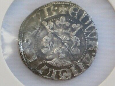 Silver coin of King Edward I - Medieval Penny Minted in London 1274-1282.