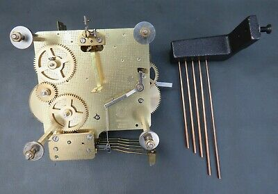 Vintage Hermle FHS 341-021 25 cm clock movement with chimes for repair or spares