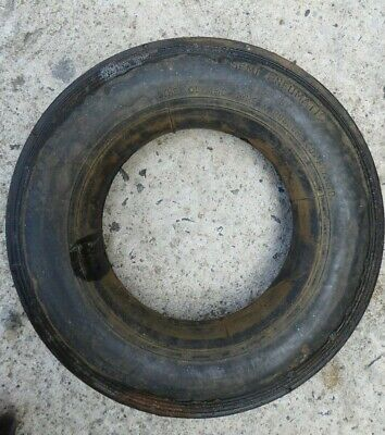 Old Vintage Olympic Small Hard Rubber Semi Pneumatic Tyre  Wheel