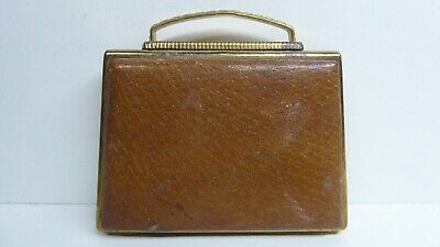 Pygmalion Vintage Leather Purse Design Ladies  Make Up Compact
