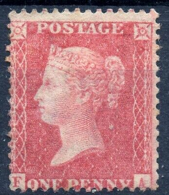 1857 QV 1d Red Star F-A C10 (Plate 42) Perf 14 Large Crown Mounted Mint