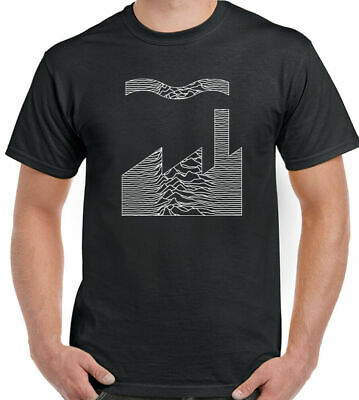 Joy Division Factory Records T-Shirt FAC51 Mens Unknown Pleasures Mash Up CD