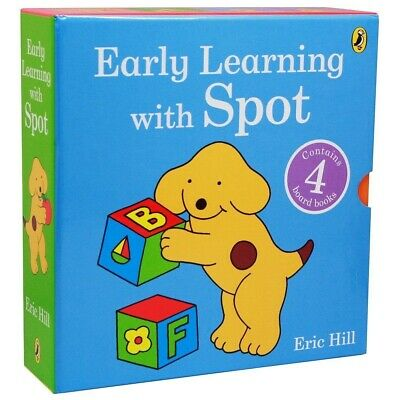 Spot the Dog Early Learning 4 Books Box Set First Words Young Children Kids New
