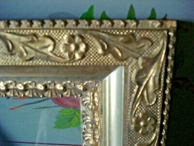 """Antique Ornate GILT Gold Leaf PICTURE FRAME w Glass Gesso Art/Painting 11""""X13"""""""