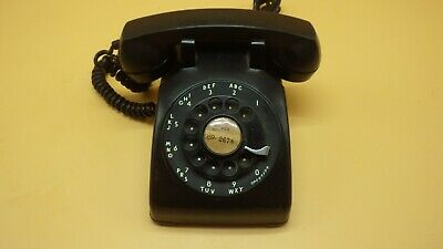 Vintage 1959 Western Electric Bell System Black Rotary Desk Phone Model C/D 500