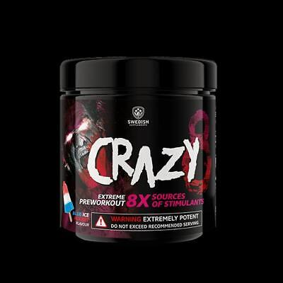 Swedish Supplements Crazy 8 Pre Workout - 260g Extreme Energy Pump