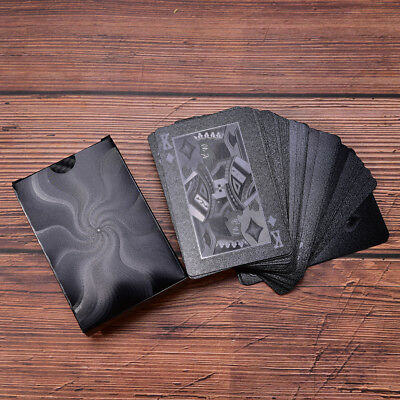 Waterproof Black Plastic Playing Cards Collection Poker Cards Creative G_WK