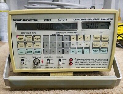SENCORE LC102 Auto Z- Capacitor Inductor Analyzer with Carrying Case