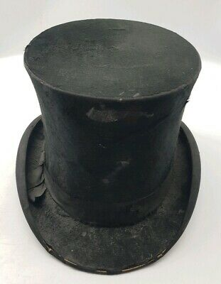 Antique Edwardian Gents Top Hat c1910 Early 20th Century