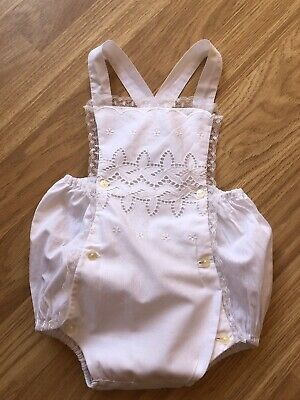 Vintage White Babies Romper 1950s 1960s French